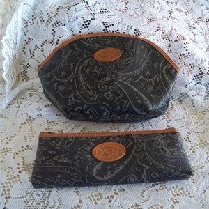 Paisley 2 Pc Make Up Bags EUC